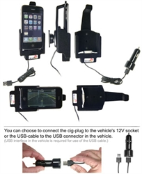 Apple IPhone 3GS - Brodit Active Car Cradle Holder With Cig-Plug (# 521023)