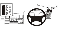 Land Rover Discovery 1994-2004 RHD - Brodit ProClip Mount (# 603403)