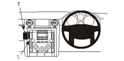 Land Rover Discovery 3 2005-2009 RHD - Brodit ProClip Mount (# 653573)